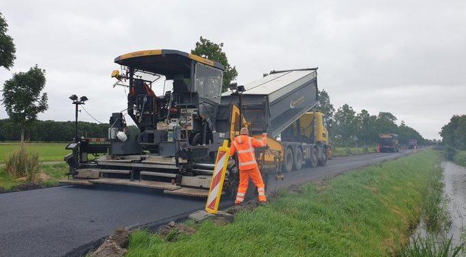 Nieuw asfalt en inrichting kruising Hauwert – Heemraad Witweg