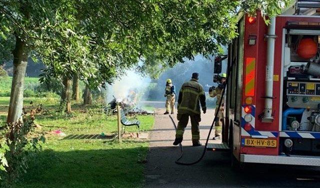 Brandje in Nassaupark Bovenkarspel snel geblusd