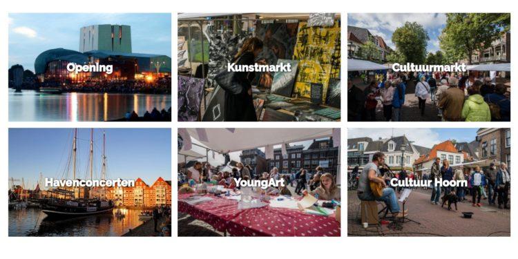 Cultuurweekend Hoorn; Cultuurmarkt; straattheater en cultuurpodium