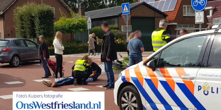 Jongen van fiets geslagen op fietspad van het Keern in Hoorn