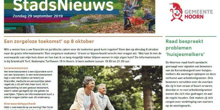 Stadsnieuws en bekendmakingen Hoorn nu in West-Friesland op Zondag