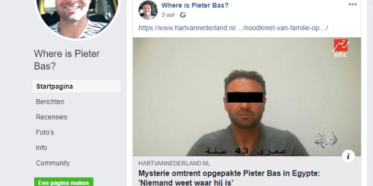 Hoornse familie van opgepakte Pieter Bas zoekt informatie via facebookpagina