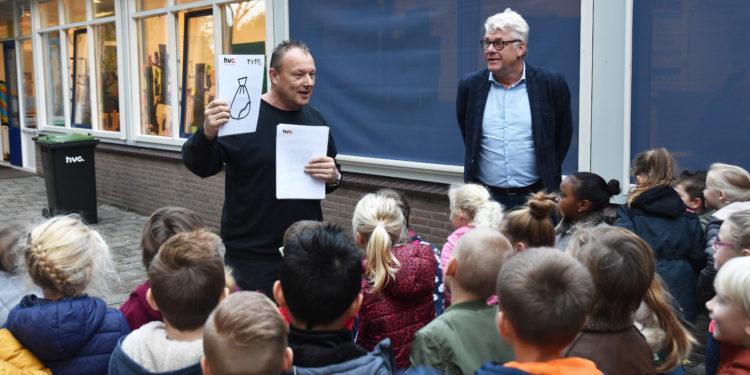Leerlingen Driespan starten met afval scheiden op school