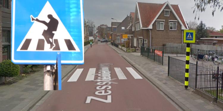 Basisschool De Uilenburcht in Grootebroek krijgt eigen verkeersbord