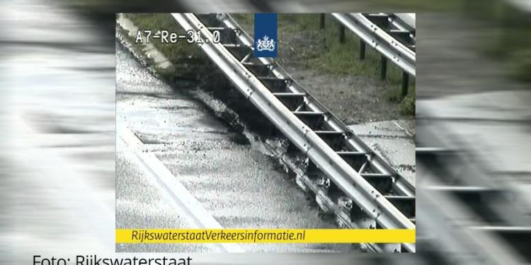 Verwacht: A7 bij Avenhorn na verzakking met ochtendspits weer open