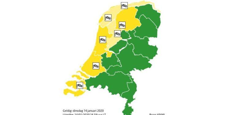 Code geel voor zware windstoten in kustprovincies
