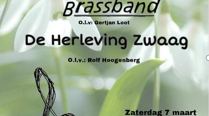 Voorjaarsconcert Hoornse Brassband en muziekvereniging De Herleving