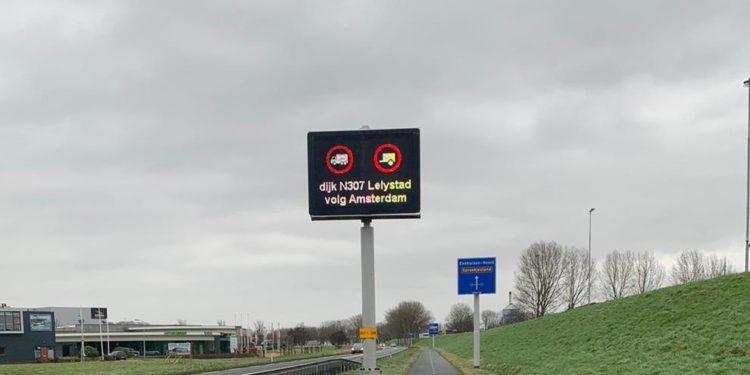 Dijk Enkhuizen – Lelystad dicht voor vrachtwagens tot 07.00 uur (update)