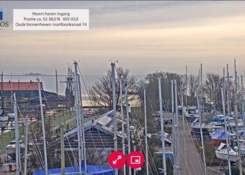 Live Webcam Hoornse haven, Hoornse Hop en Markermeer [video]