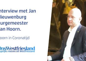 Burgemeester Jan Nieuwenburg over Corona in Hoorn [video]