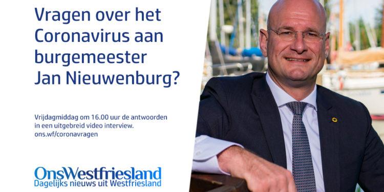 Vraag over coronavirus aan de Hoornse burgemeester?