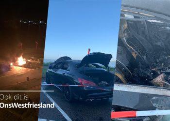 Auto uitgebrand op Westerdijk in Hoorn [video]