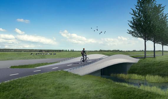 3D-betonprinter maakt nieuwe fietsbruggen tussen Alkmaar en Avenhorn