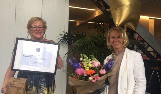Feest in Zwaag. Kinderopvang Berend Botje op plek 8 als 'Beste Grote werkgever in Nederland' 2020