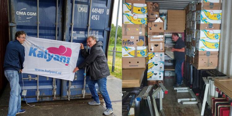 Container vol schoolspullen uit Enkhuizen naar Sri-Lanka