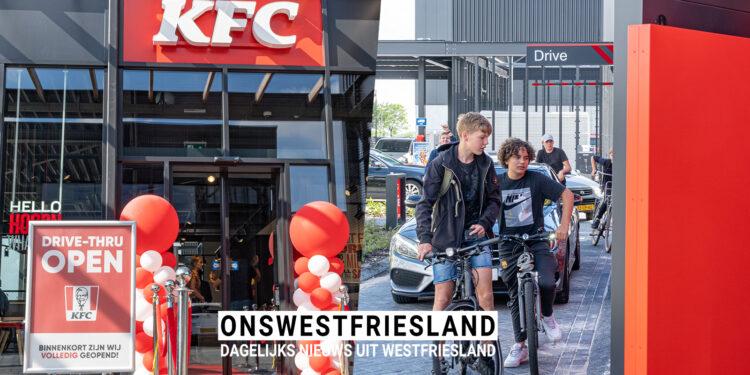 KFC Hoorn geopend. Eerste dagen alleen de Drive; Kan ook op de fiets [+fotos]