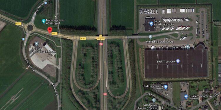 Op- en afritten en viaduct over A7 bij Wognum week afgesloten