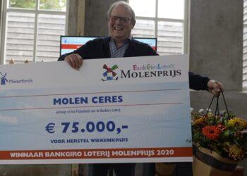 Molen Ceres wint de BankGiro Loterij Molenprijs en daarmee €75.000