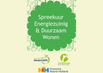 Inwoners Medemblik uitgenodigd voor (digitale) spreekuren energiezuinig wonen