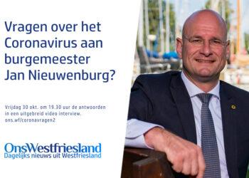 Stel uw vraag aan burgemeester van Hoorn Jan Nieuwenburg