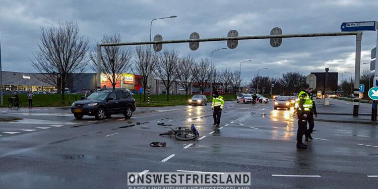 Zware aanrijding fietser en auto op kruising Hoorn80 met Provincialeweg