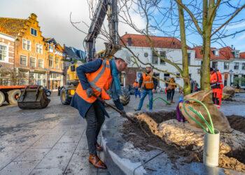 Werkzaamheden rondom Kerkplein bijna klaar; 'Voor Kerst afgerond'