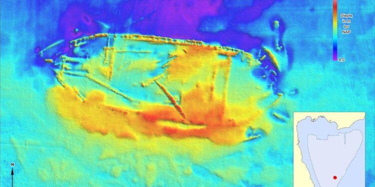 Veel historische scheepswrakken op de bodem van het Hoornse Hop