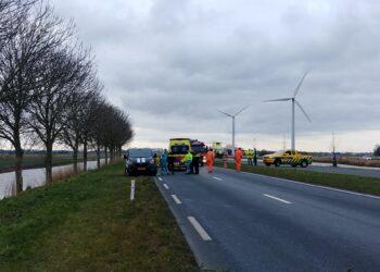 N194 bij Avenhorn enige tijd afgesloten door ongeval (update)
