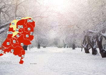 KNMI geeft code rood voor zondag; Sneeuwval, vorst en windstoten