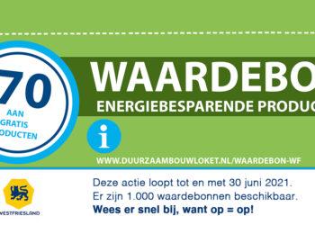 Kleine duurzame aanpassing nu extra goedkoop met €70 waardebon; Maar op=op