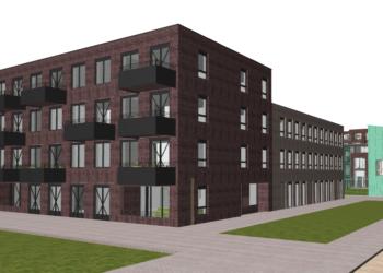 Eerste paal voor 20 sociale huurappartementen in Holenkwartier; Wonen vanaf voorjaar van 2022