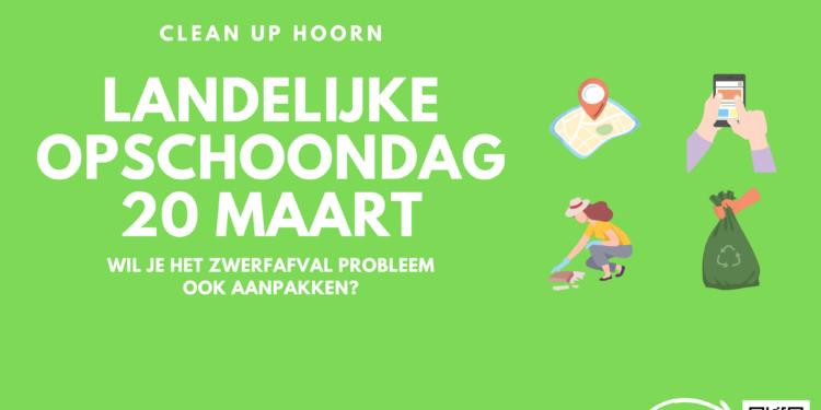 Burgerinitiatief CleanUp Hoorn: Help mee met landelijke Opschoondag op 20 maart