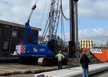 Bouw werkplaatsuitbreiding Museumstoomtram in Hoorn gestart