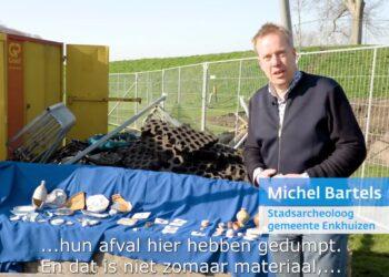 Archeologische vondsten bij afgraven vervuilde grond speeltuin Enkhuizen [video]