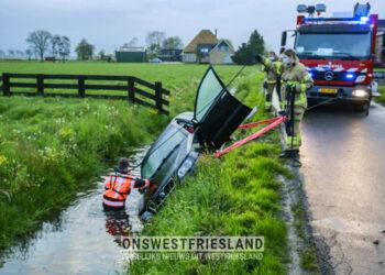 Auto aangetroffen in sloot Zuidermeer