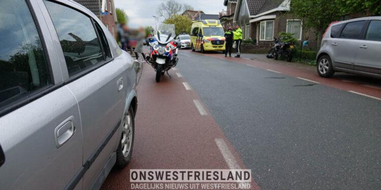 Meisje op crossbrommer in botsing met auto in Wadway