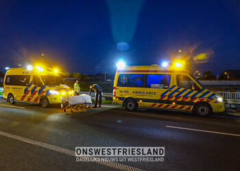 Motorrijder gewond bij eenzijdig ongeval op A7 bij Hoorn-Noord