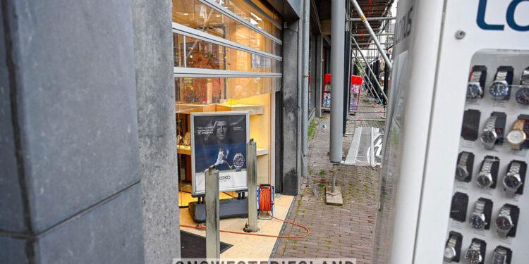 Inbraak juwelier op Grote Noord in Hoorn; Ravage in winkel