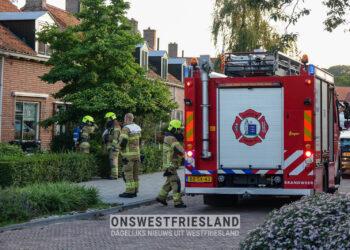Brandje in woning Nanne Grootstraat in Enkhuizen